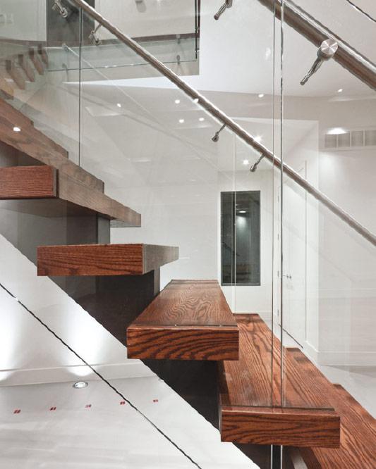Mrail Modern Stairs Mono Stringer Stairs